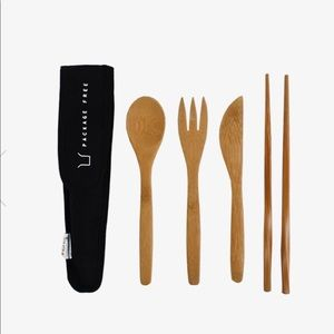 Package Free Bamboo Cutlery Set